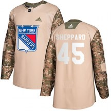 New York Rangers Youth James Sheppard Adidas Authentic Camo Veterans Day Practice Jersey