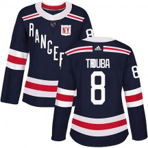 New York Rangers Women's Jacob Trouba Adidas Authentic Navy Blue 2018 Winter Classic Home Jersey