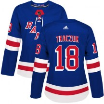 New York Rangers Women's Walt Tkaczuk Adidas Authentic Royal Blue Home Jersey